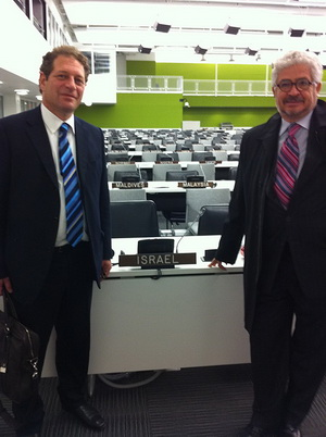 Mr. Seth Bogner and Mr. Leonid Makaron at the UN