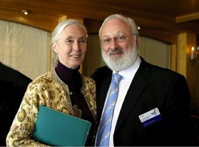Dr. Jane Goodall and Dr. Michael Laitman, Arosa Switzerland