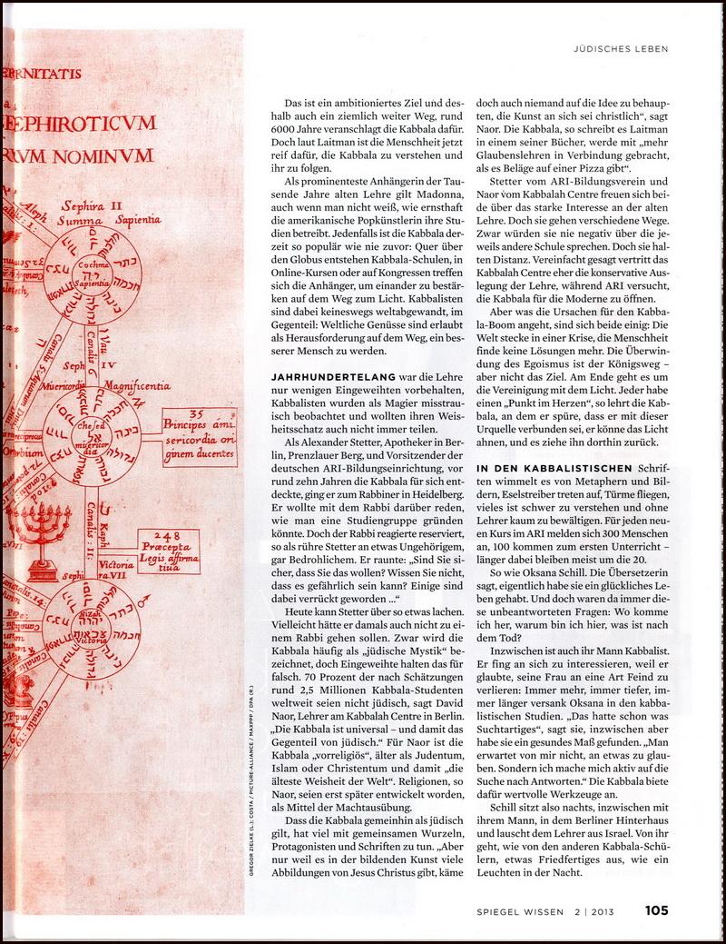 Der Spiegel About Kabbalah_3