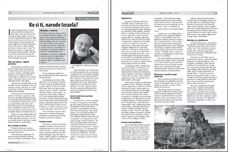 Newspaper Serbian Jewish Voice